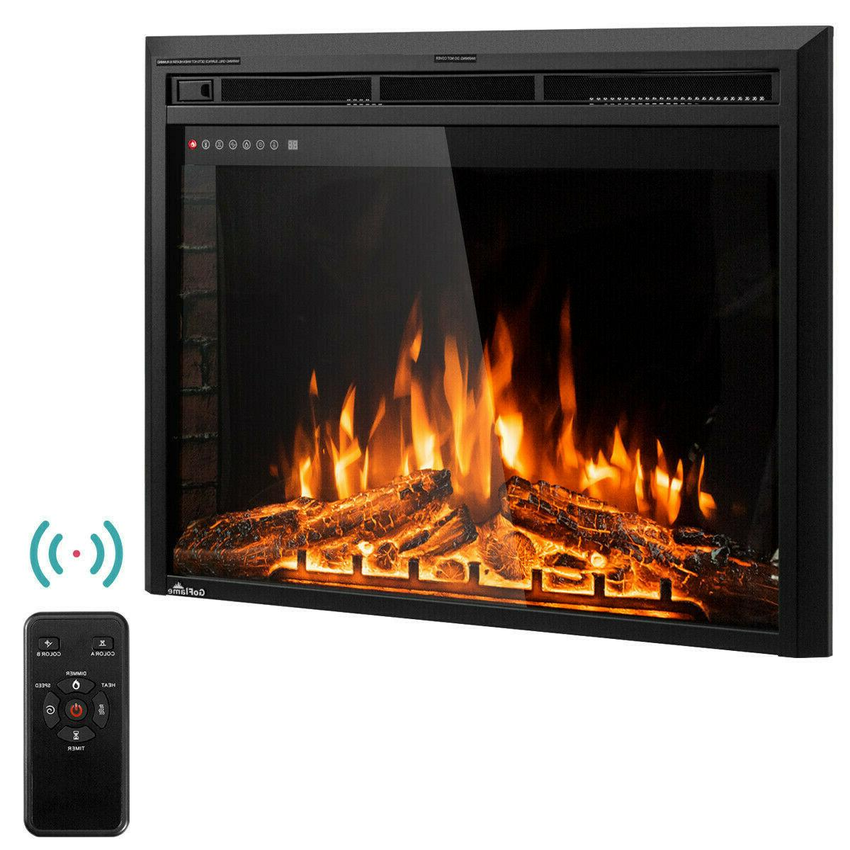 Electric Fireplace Wall Mount Insert 36 Inch Heater With Col