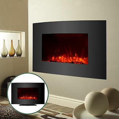 Large 1500W Fireplace Wall Mount w/ Remote Adjustable