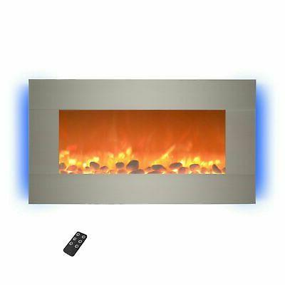 electric fireplace wall mounted adjustable heat remote