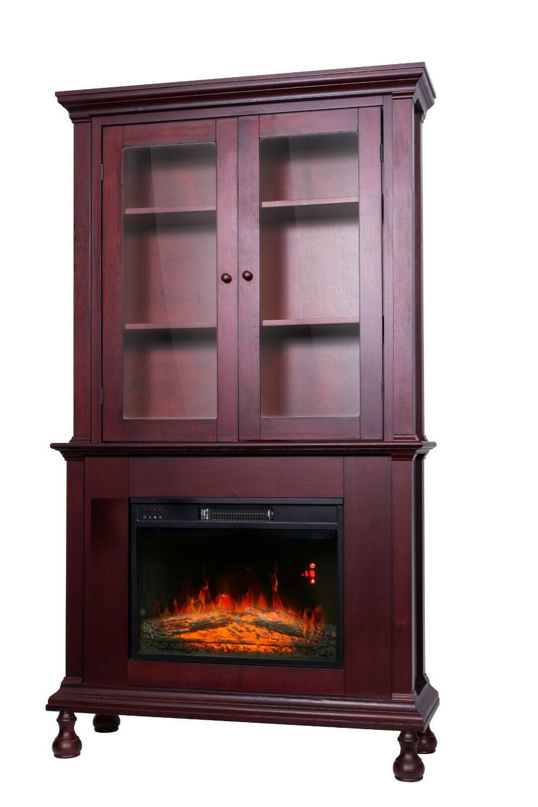 Electric with Mantle Cabinet Shelves 2 US