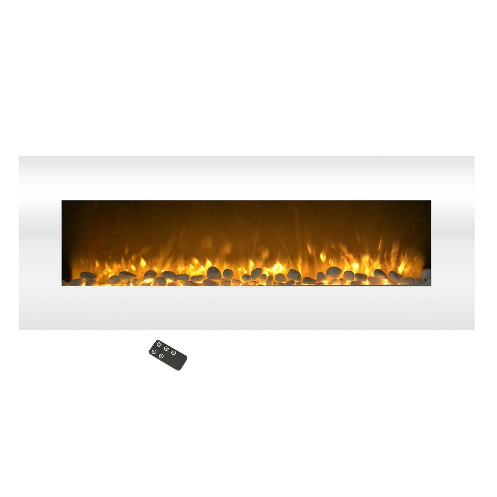 Electric No White Fireplace Changing Wall Inch