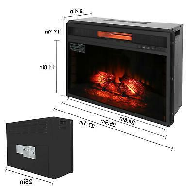 """Embedded 27.1"""" Fireplace Insert Flame with Remote Control US"""