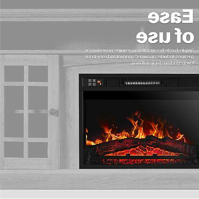 Embedded Fireplace Electric Heater View Log Flame