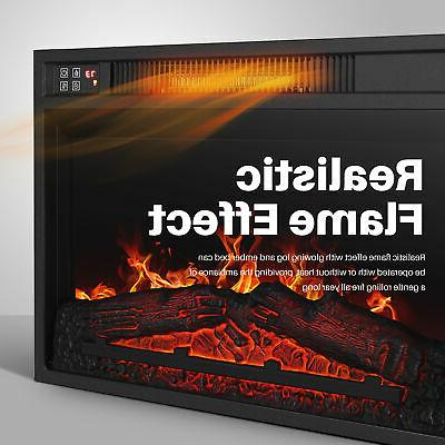Embedded Electric Heater Glass Flame Home