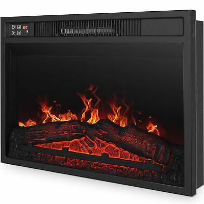 Embedded Heater Glass Log Flame Remote