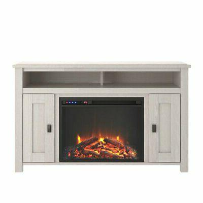 """Fireplace TV Console up to 50"""" Ivory"""
