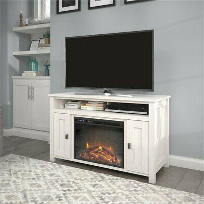 """Ameriwood Home Fireplace up to 50"""" Ivory Oak"""