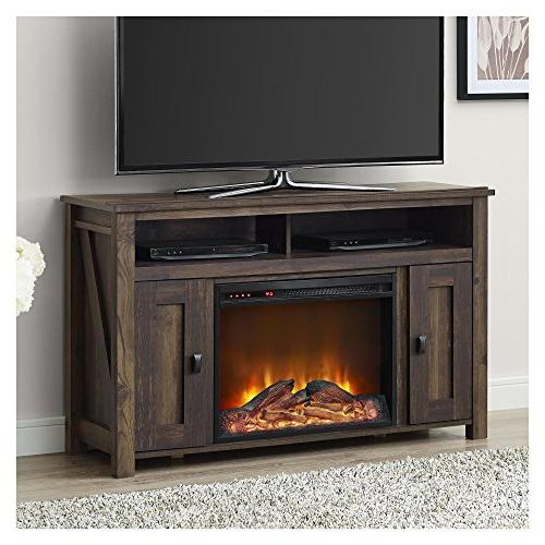 Ameriwood Fireplace TV Console Rustic