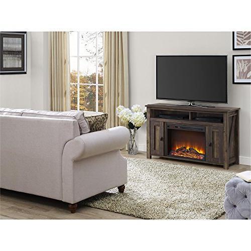 Ameriwood Home Farmington Electric Fireplace TVs to Rustic