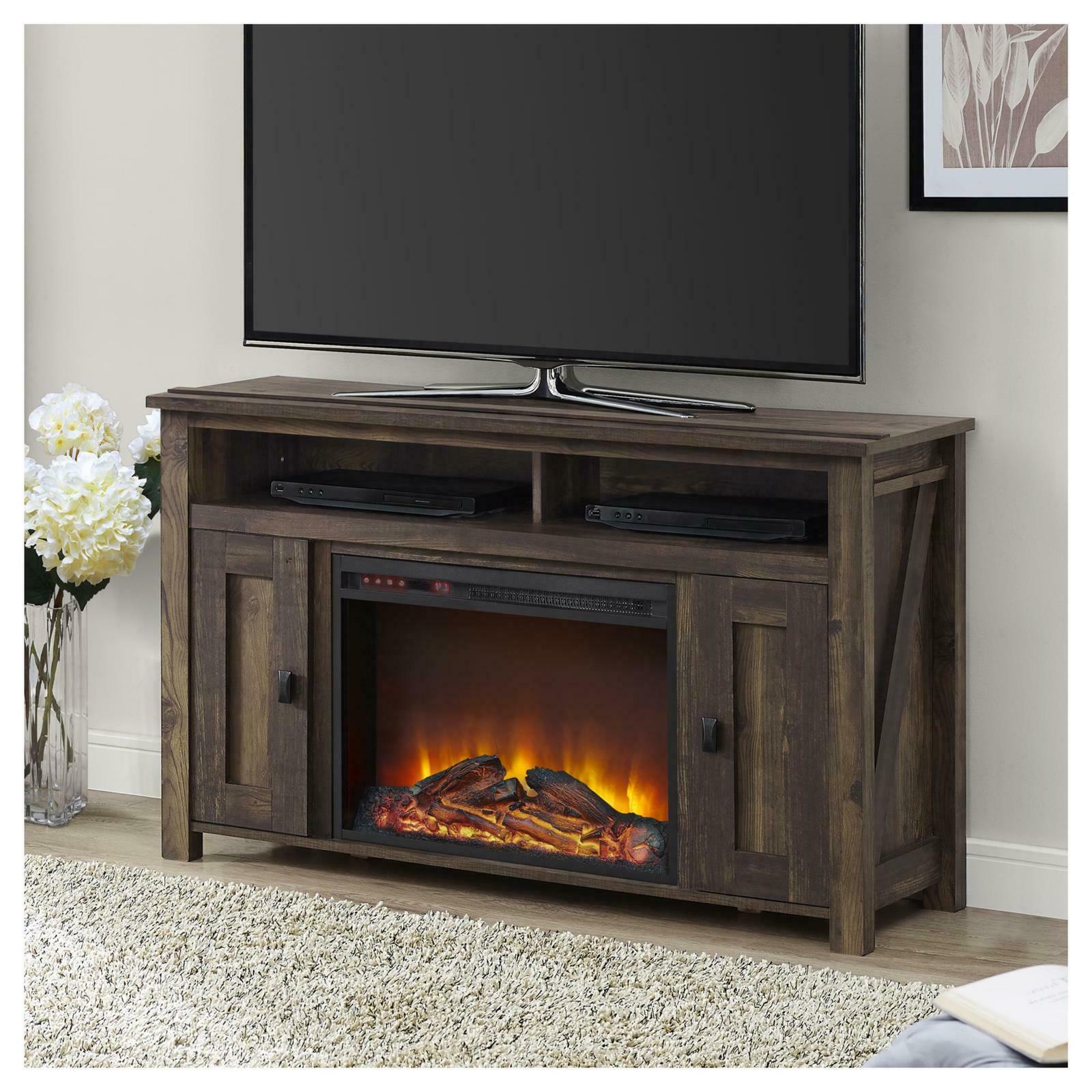 farmington media heritage pine fireplace