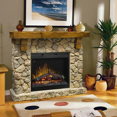 Dimplex Fireplace & Console Mantel Man Made Stone