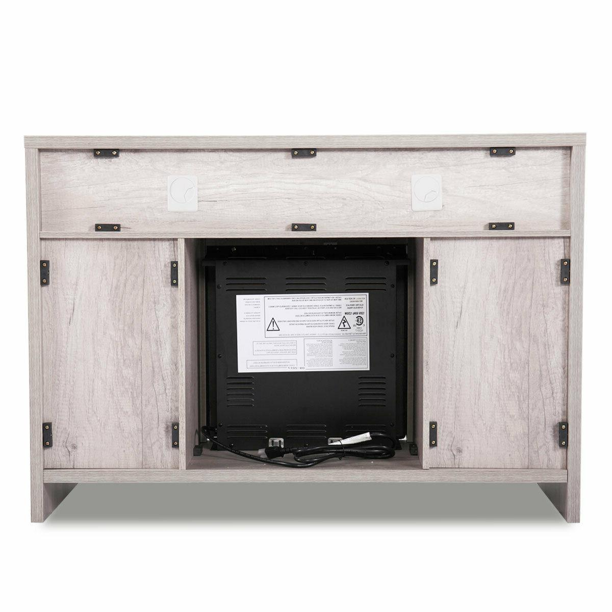 Fireplace Storage Console Heater to