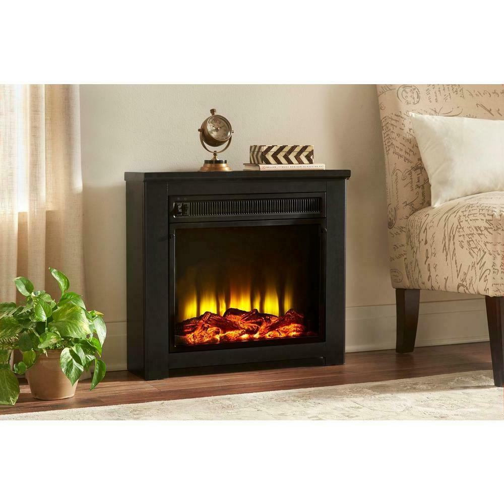 freestanding electric fireplace 24in energy saving led
