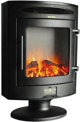 freestanding electric fireplace firebox w log display
