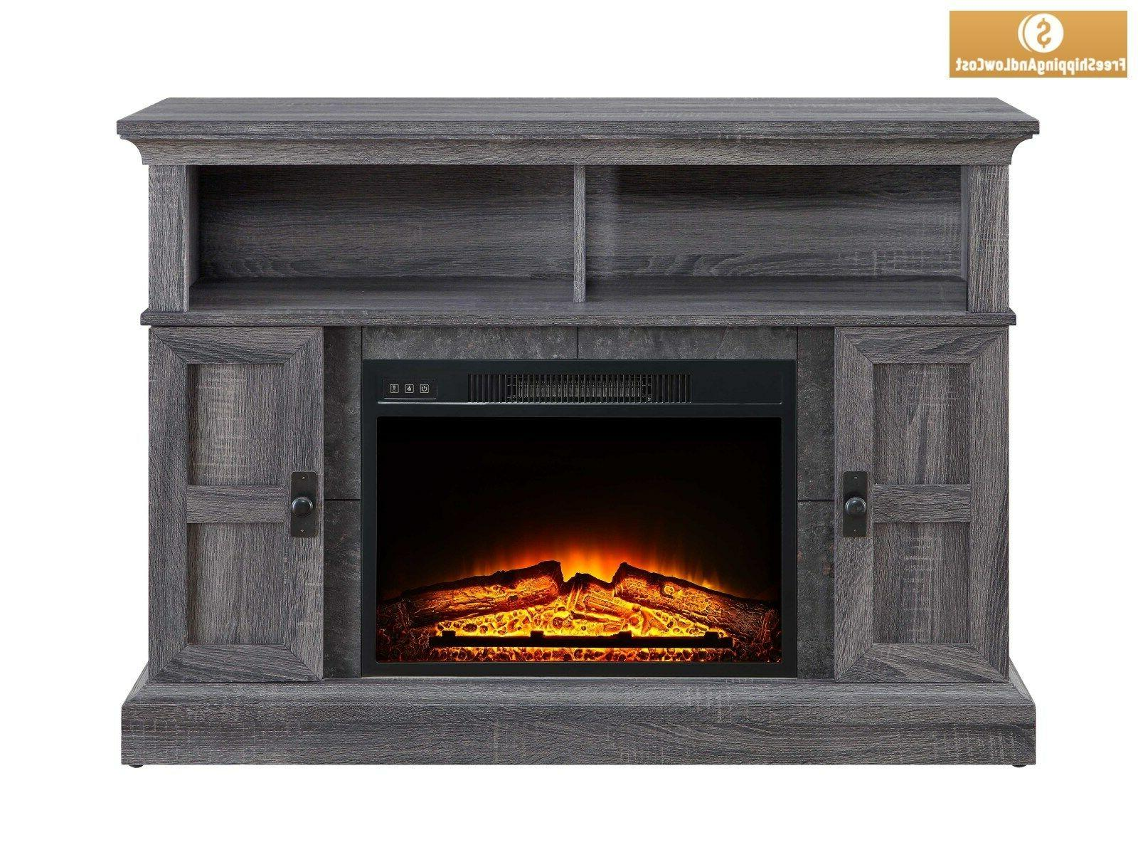 "55"" Rustic Fireplace Center"