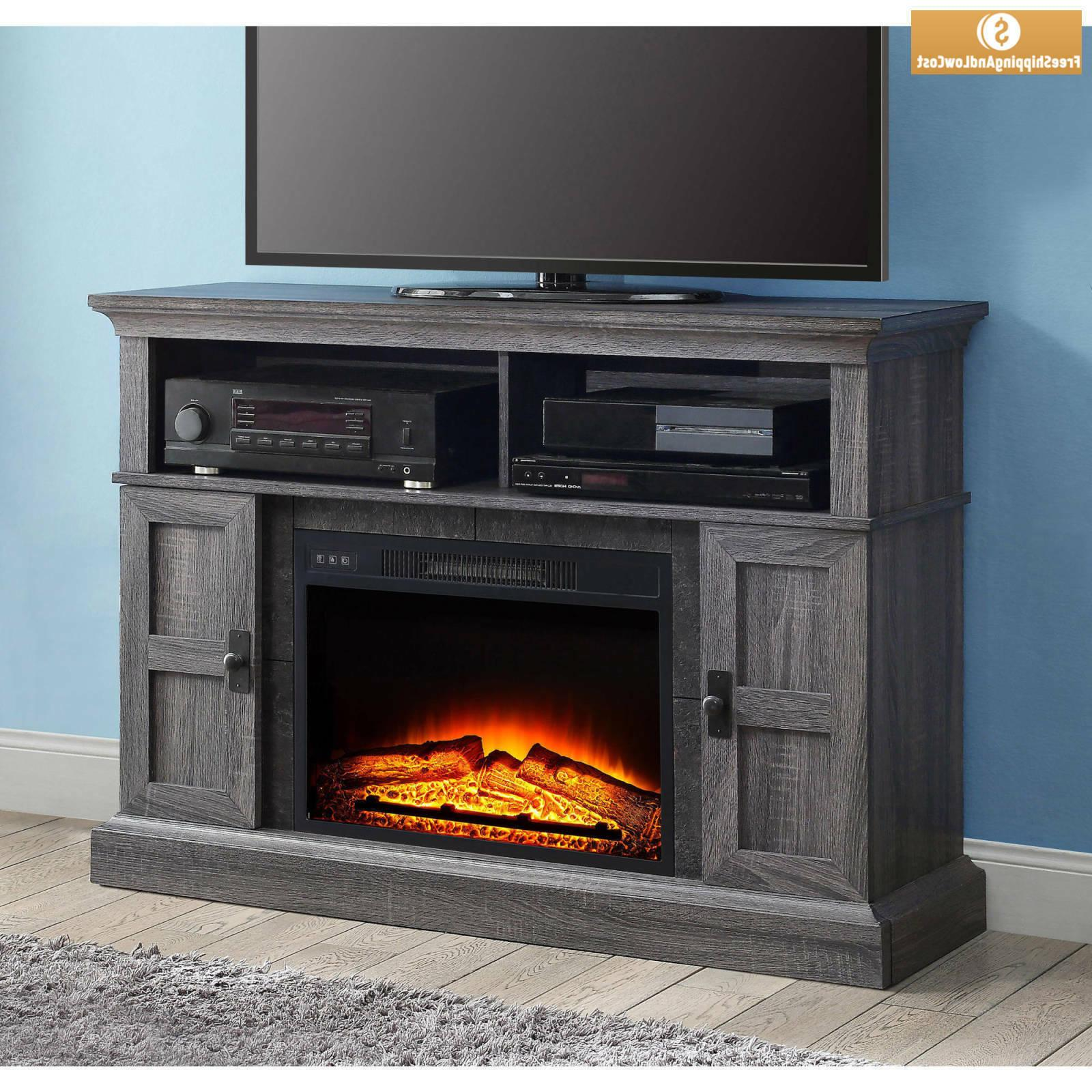 "55"" Fireplace Stand Entertainment Center"