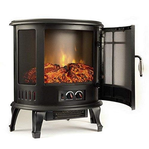 Vent Free Curved Electric Fireplace Stove Wood Fireplaces, Wall Gas, Space Heaters, Propane, Gel,
