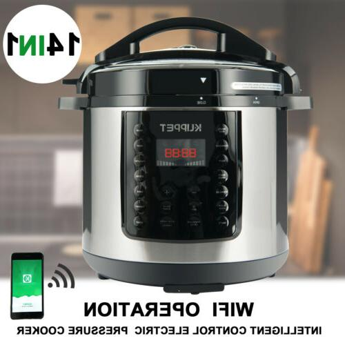 1000W 14-in-1 Electric Pressure Cooker 6-Quart Multi-Functional Smart