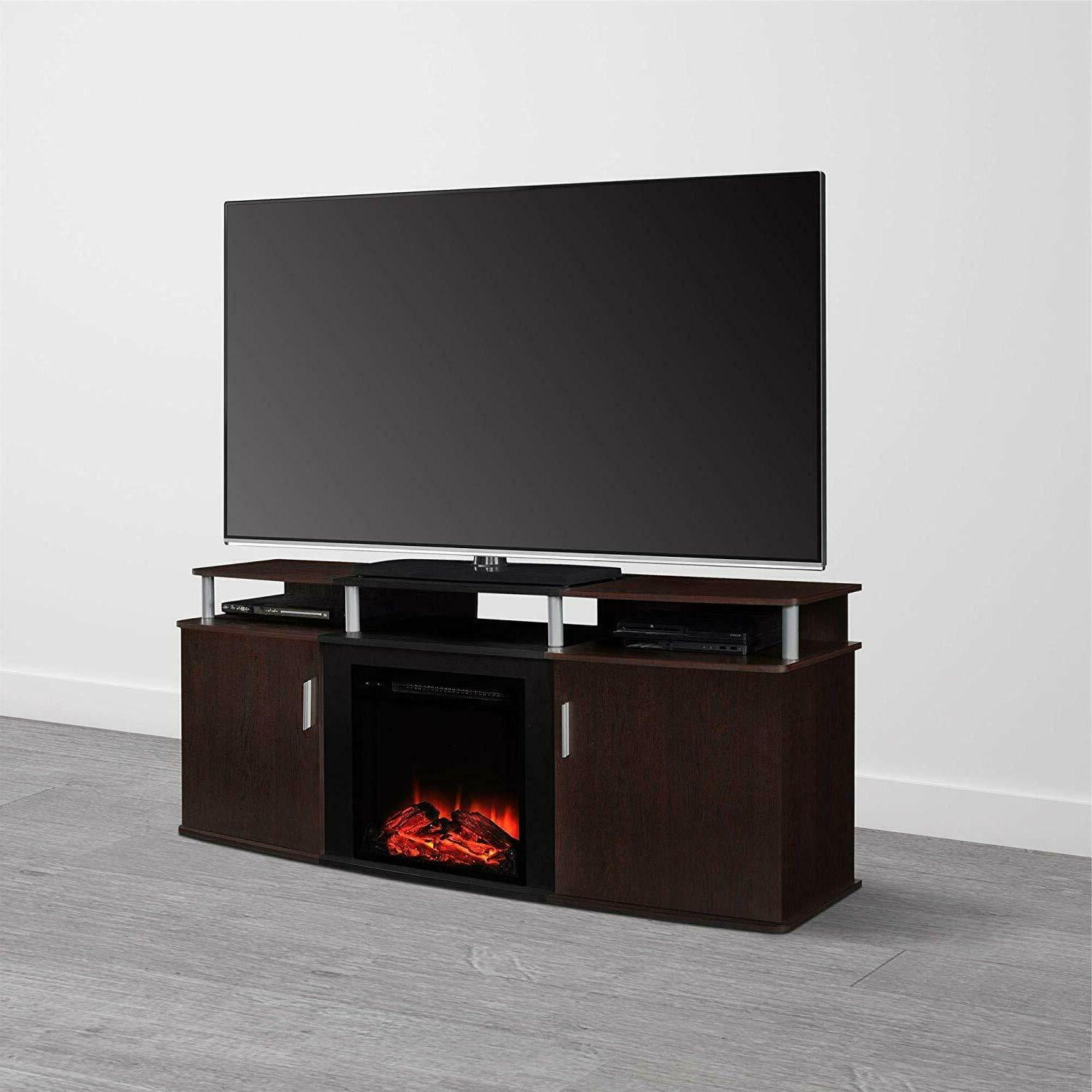 Ameriwood Fireplace TV Stand for TVs Cherry NEW