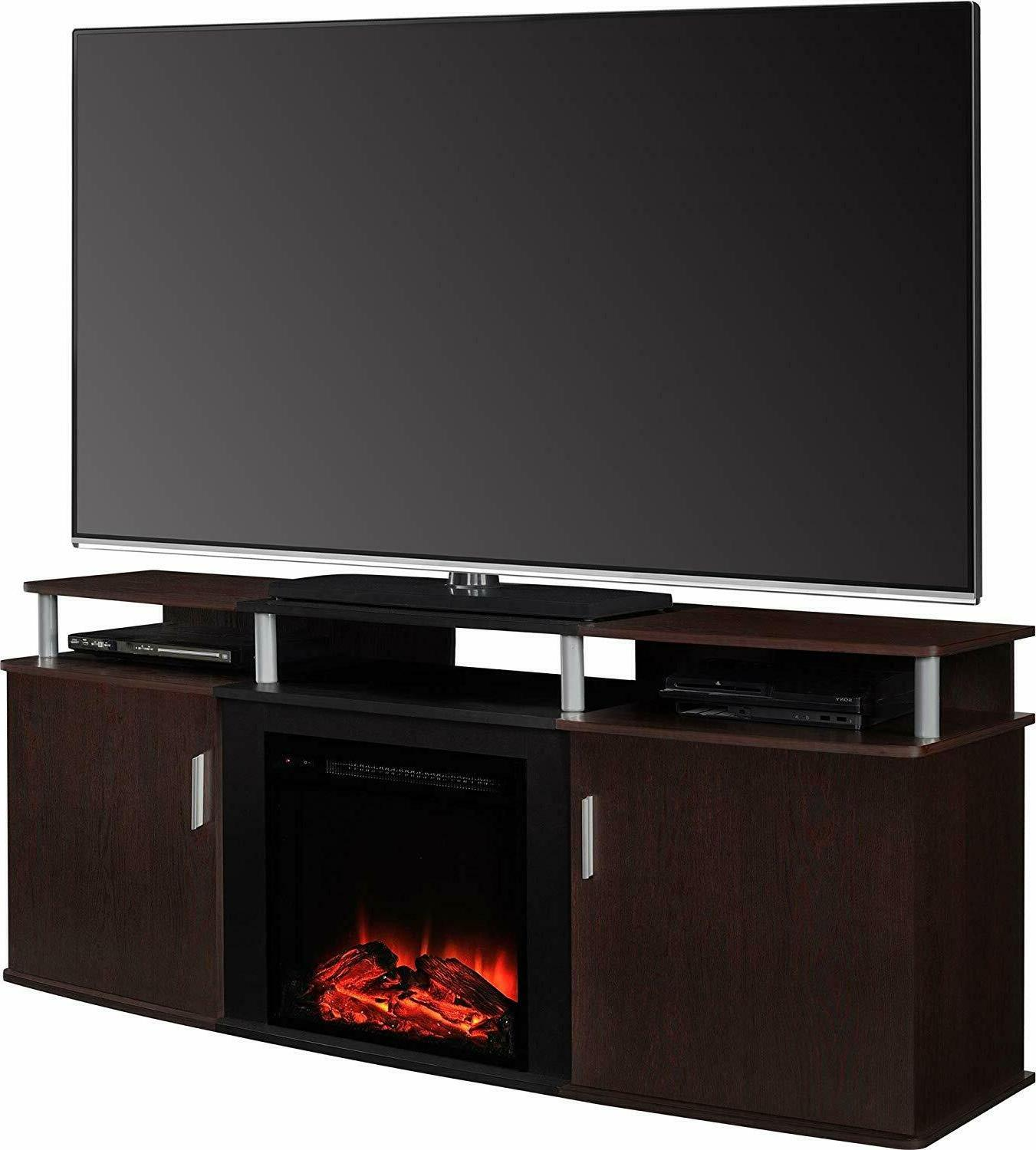 home electric fireplace tv console media stand