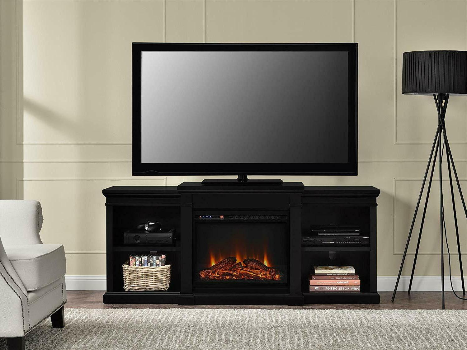 Ameriwood Home Electric Fireplace TV for TVs Black