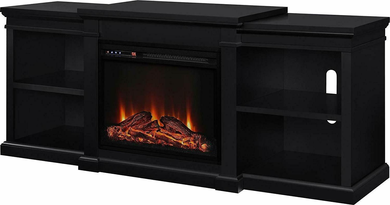 home manchester electric fireplace tv stand