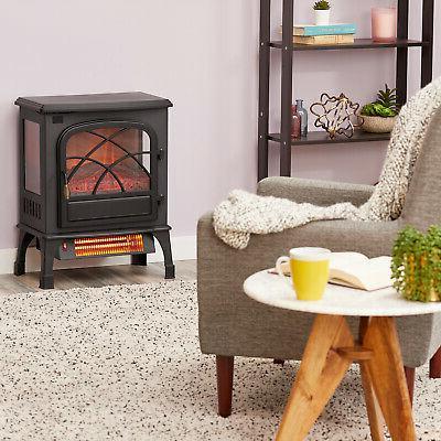 Limina Electric 1500W Stove Fireplace Quartz Space Black
