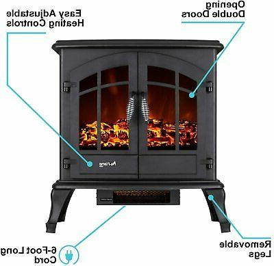 Jasper Free Standing Electric Fireplace -