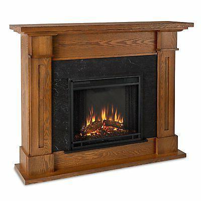 Kipling Electric Fireplace, Burnished Oak