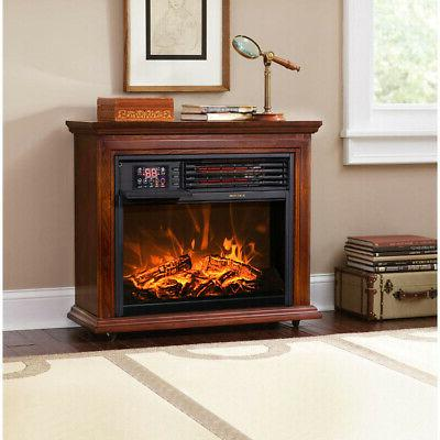 large room electric infrared fireplace heater wood
