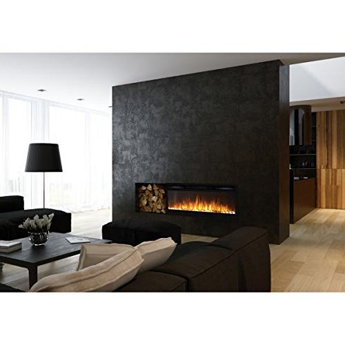 """Regal Flame Lexington 35"""" Pebble Built Wall Ventless Heater Recessed Mounted Electric Fireplace than Fireplaces, Logs, Gas Fireplaces, Heaters"""