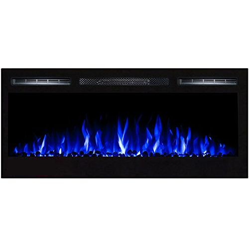 Regal Flame Pebble in Wall Ventless Heater Mounted Electric than Fireplaces, Logs, Log