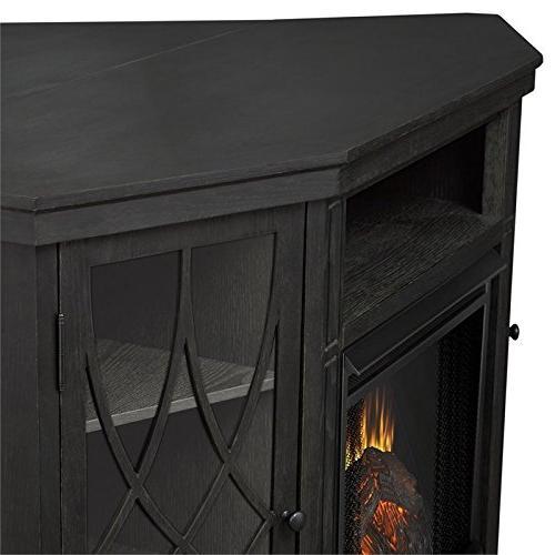 Real Flame Corner Fireplace TV Gray