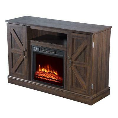 """47"""" Center Stand Console with Shelves TVs Fireplace Remote C"""