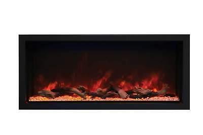 panorama extra tall electric fireplace with steel