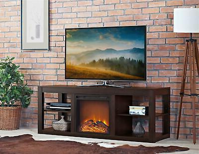 parsons electric fireplace tv stand and deluxe