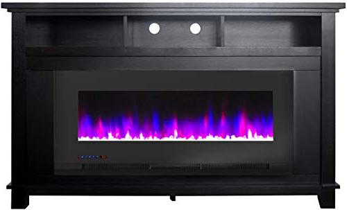 Cambridge Jose in. Heater TV with and LED Crystal Rock Display, CAM5735-1BLK