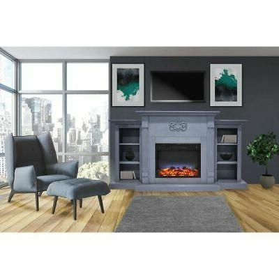 Sanoma Fireplace w/Multi-Color LED Display
