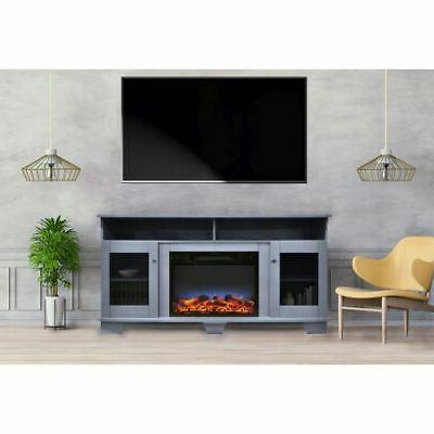 savona 59 electric fireplace w stand