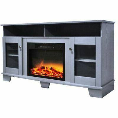 Savona Electric Fireplace with Log Display