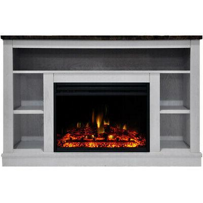 seville electric fireplace heater with 47 in