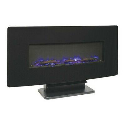 MUSKOKA SF310C-36 Black Curved Front Electric Fireplace, 36""