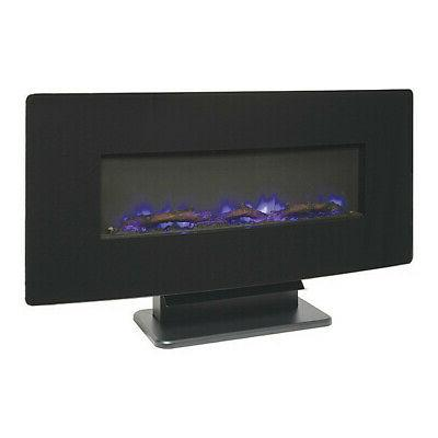 sf310c 36 black curved front electric fireplace