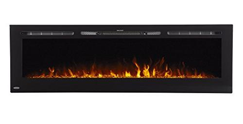 Touchstone Electric Inch Wide Wall - 5 3 Flame 1500/750 Watt Heater - Log & Hearth