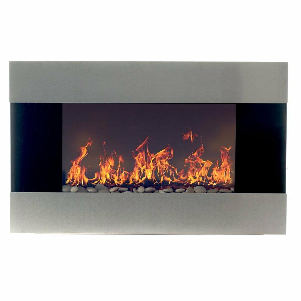 Stainless Mount Fireplace Electric