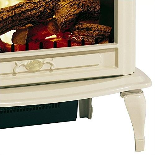 Bowery Electric Fireplace in Cream
