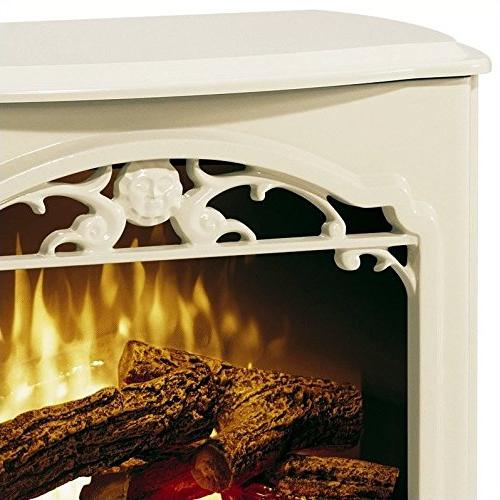 Electric Fireplace Stove in Cream
