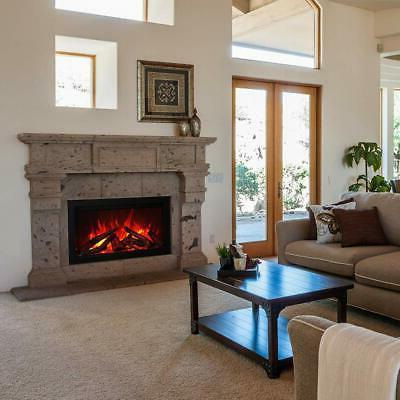 traditional electric fireplace with logs 44 inch