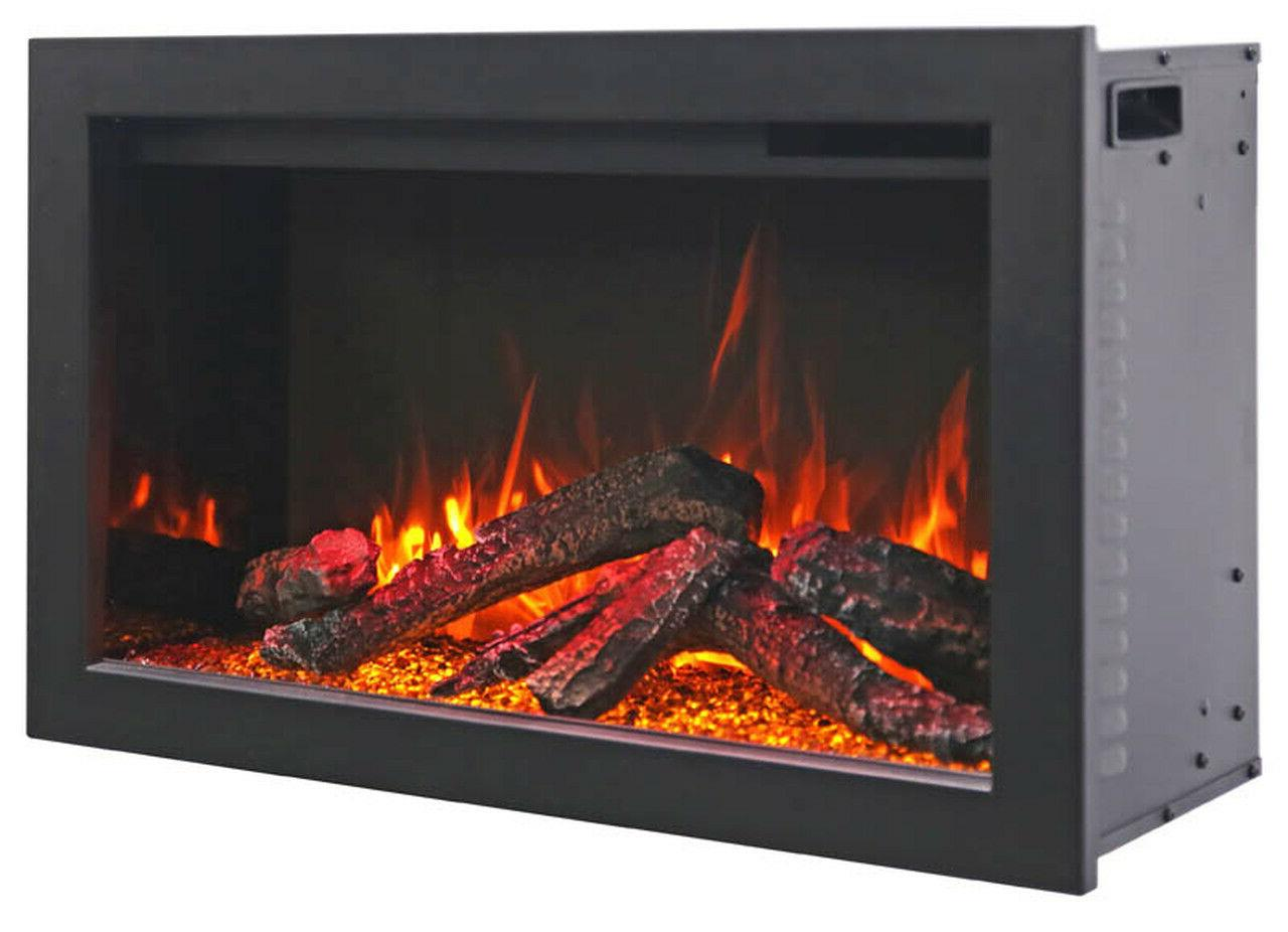 "Amantii TRD 38"" Traditional Electric Fireplace with Log Set"