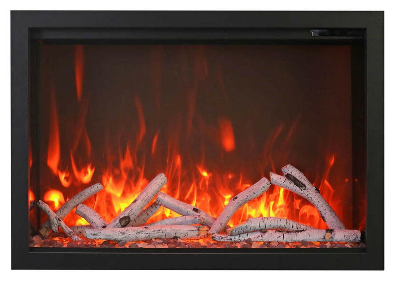 """Amantii 38"""" Electric Fireplace Log Set &"""